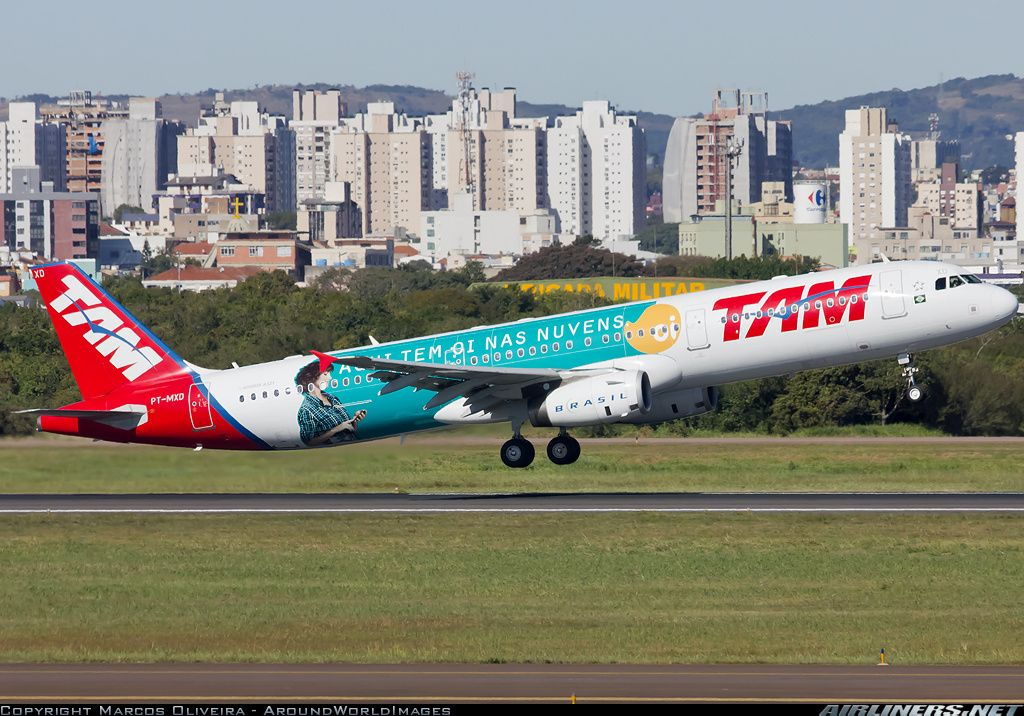 TAM PTMXD Airbus A321231 aircraft picture (med bilder)