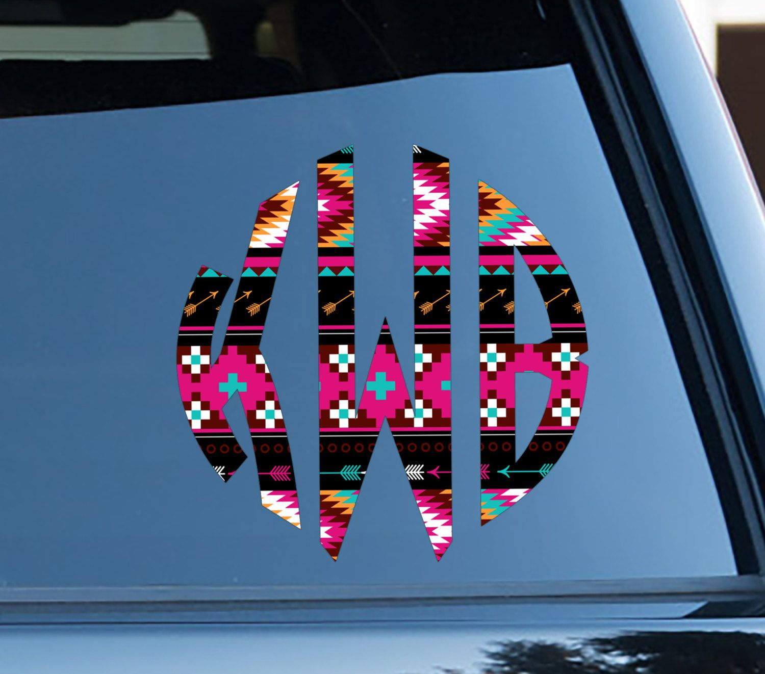 Christmas Gifts For Friends Aztec Car Decal Tribal Car Stickers Car Decor Cute Car Accessories Car Decals Monogrammed Cute Car Decals Car Accessories Cute Cars [ 1322 x 1500 Pixel ]
