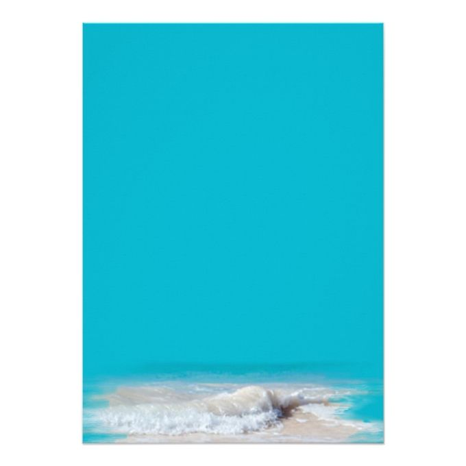 ocean waves turquoise wedding blank paper in 2018 projects to try