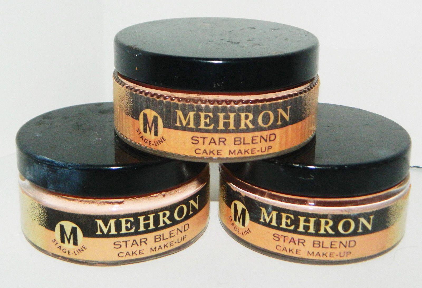 Vintage Mehron Products Glass Jars Vtg Stage Line Mehron Star Blend Cake Make Up Theater Pancake How To Make Cake Glass Jars Star Cakes