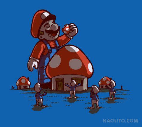 Mushroom Eater Naolito Illustration Peinture