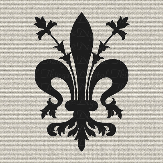 Fleur De Lis French Symbol French Decor Wall Decor Art Printable