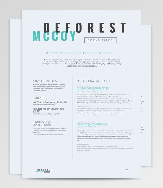 Perseus Resume Template sports a clean-cut typography with subtle - resume with accents
