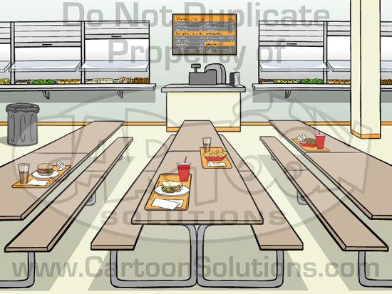 Image Result For School Cafeteria Cartoon Cafeteria School