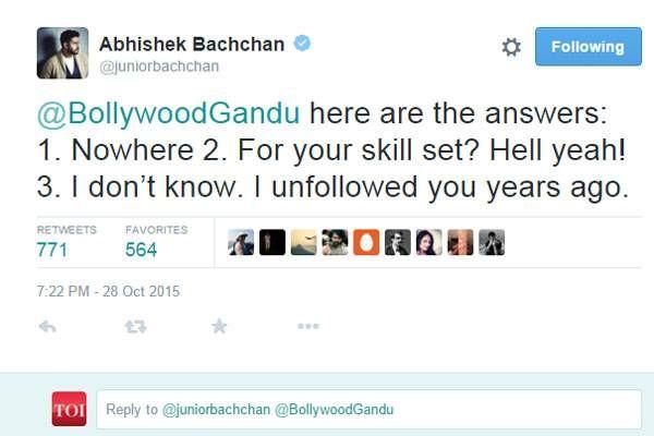 Abhishek Bachchan trolled again, gives it back