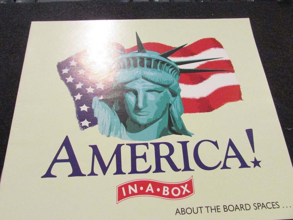 America In A Box From Late For The Sky Instructions Game Pieces