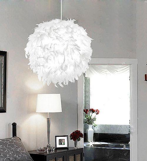 Romantic Bedroom Lighting: Lamps Pendant Light Bedroom Lamp Romantic Fashion White