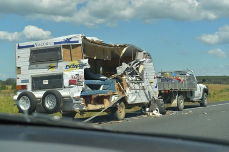 Caravan crash on the Bruce Highway in the south bound lane about