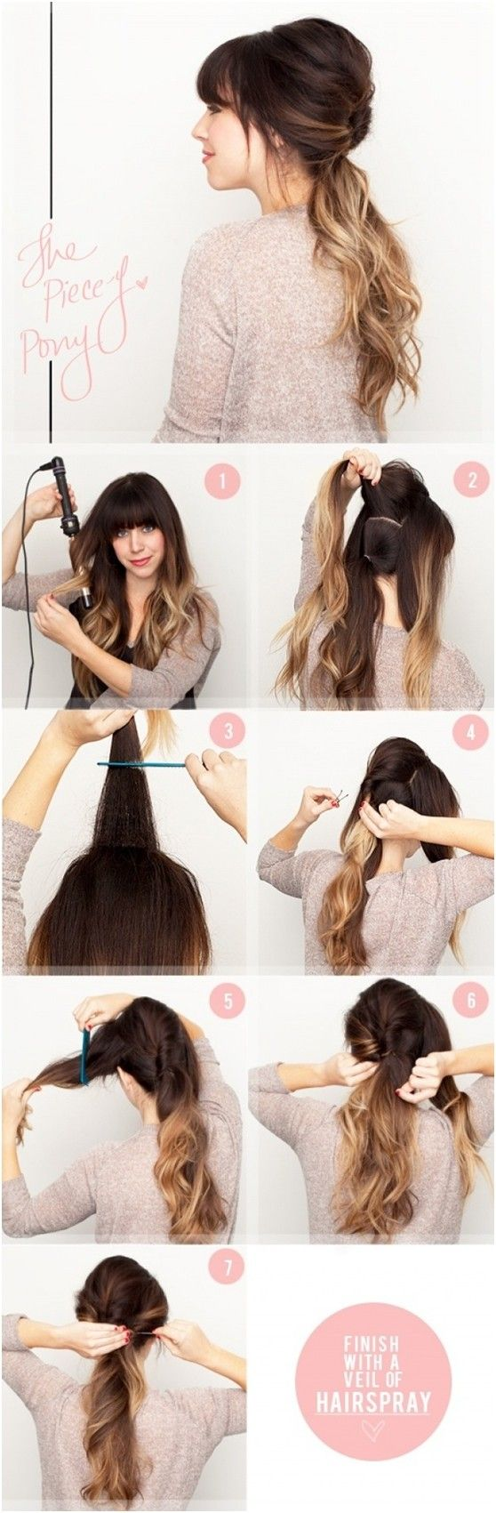 cute and easy ponytail hairstyles tutorials easy ponytail
