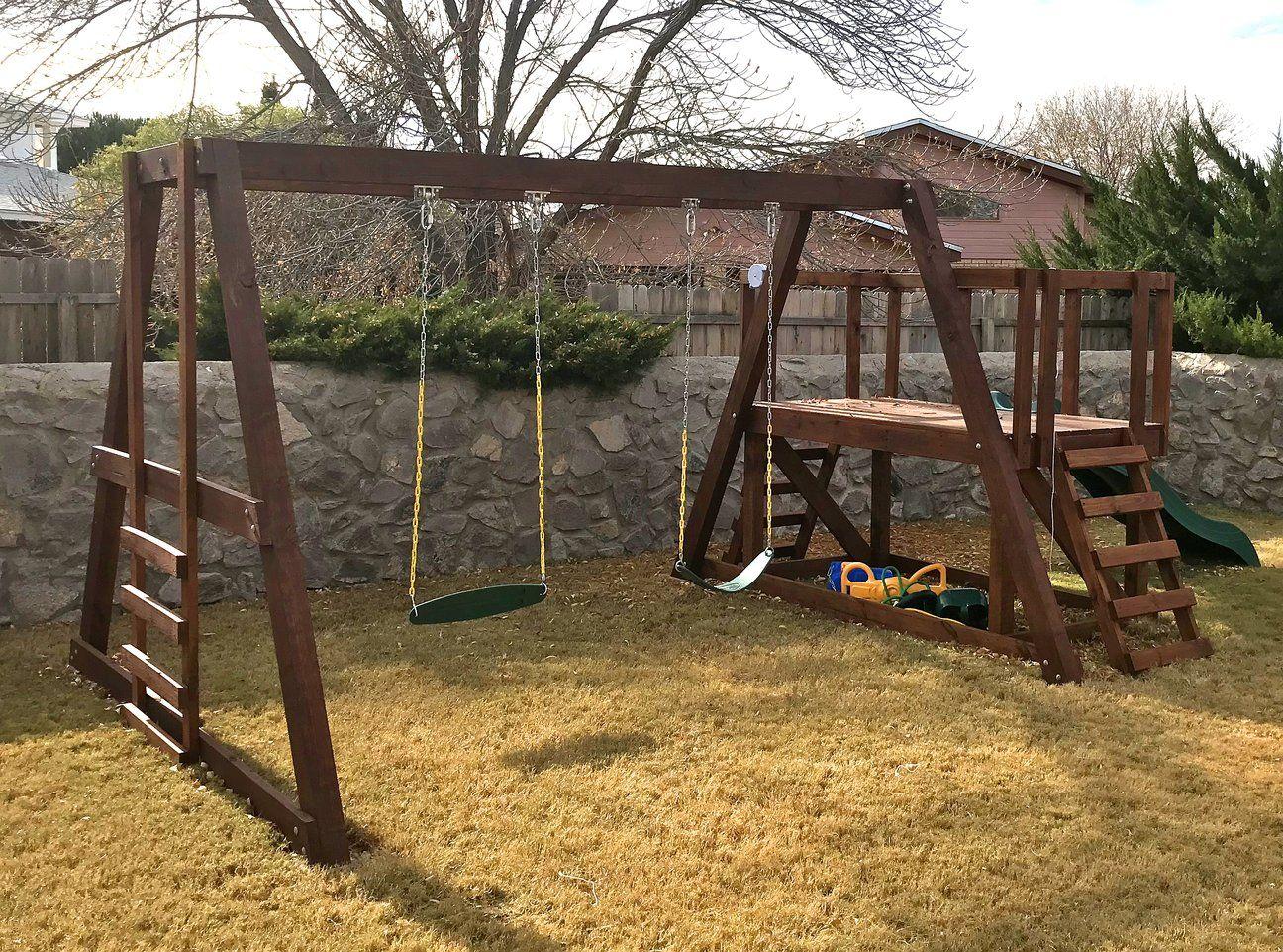 Pauls Swingset In 2019 Projects Swing Set Plans Wooden Swing