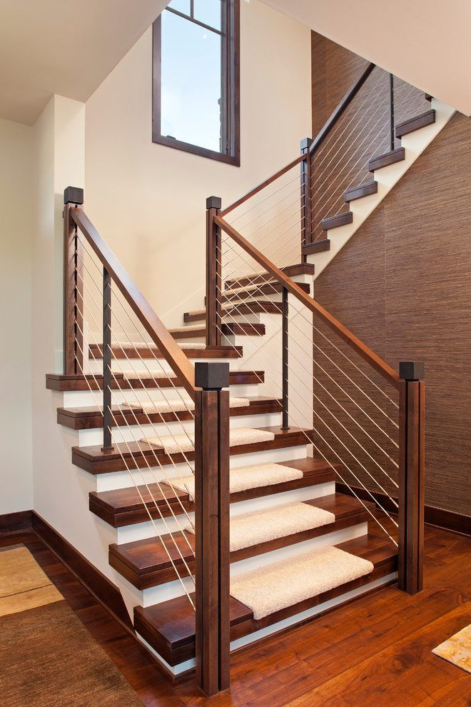 Best Staircase Railing Ideas Staircase Contemporary With U 400 x 300