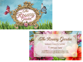 funky business cards rosary garden business card design the bodacious beauty spa business - Garden Design Business Cards