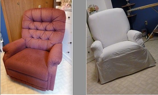 step by step of slipcovering a recliner home decor diy rh pinterest com