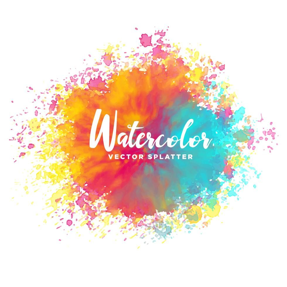 Colorful Watercolor Splash Vector Background Watercolor Splash