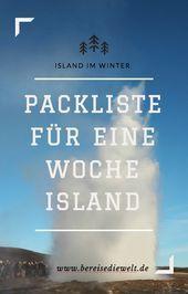 Meine Packliste für eine Woche Island im Winter Meine Packliste für eine Woche Island im Winter This image has get 75 repins Author Miss Z honeymoon