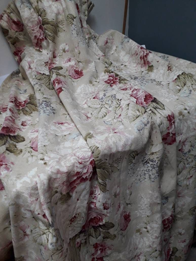 Your Place To Buy And Sell All Things Handmade Floral Curtains Vintage Floral Green Curtains
