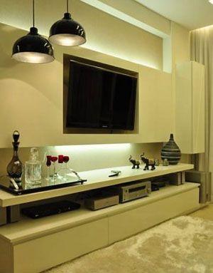 painel tv sala moderno - Pesquisa Google   salas   Pinterest   White ...