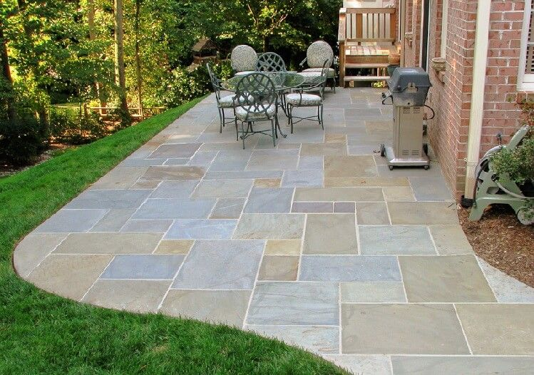 Flagstone Patios And Also Backyard Pavers And Also Blue Stone Patio And  Also Slate Stone Patio