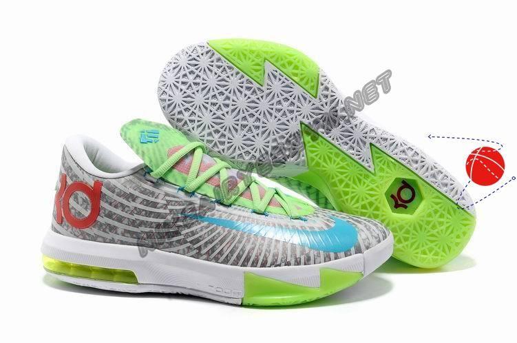 Cheap White Grey Green Red Blue Nike Zoom KD 6 Halloween Discounts