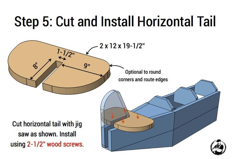 Airplane play structure plans step 5 woodplansdesign