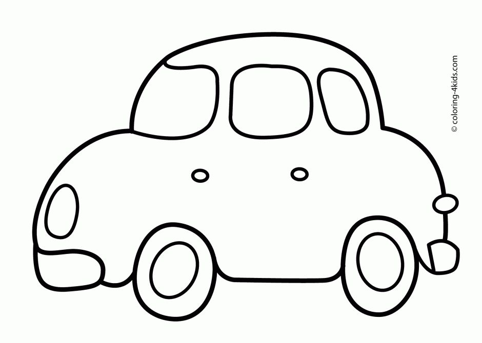 Simple Car Coloring Pages Simple Car Transportation Coloring Pages For Kids Printable Free Easy Coloring Pages Coloring Pages For Boys Cartoon Coloring Pages
