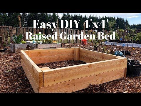 Easy Diy 4x4 Raised Garden Bed Youtube In 2020 4x4 Raised