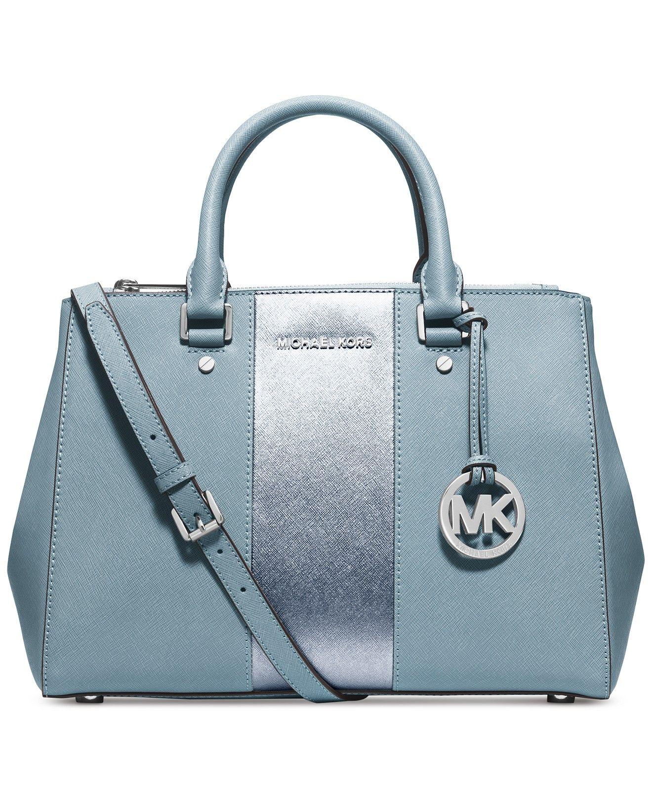 07e2fa901205 MICHAEL Michael Kors Sutton Stripe Medium Satchel - Handbags & Accessories  - Macy's