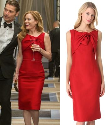 The Other Woman movie: Kate King\'s (Leslie Mann) red, sleeveless tie ...
