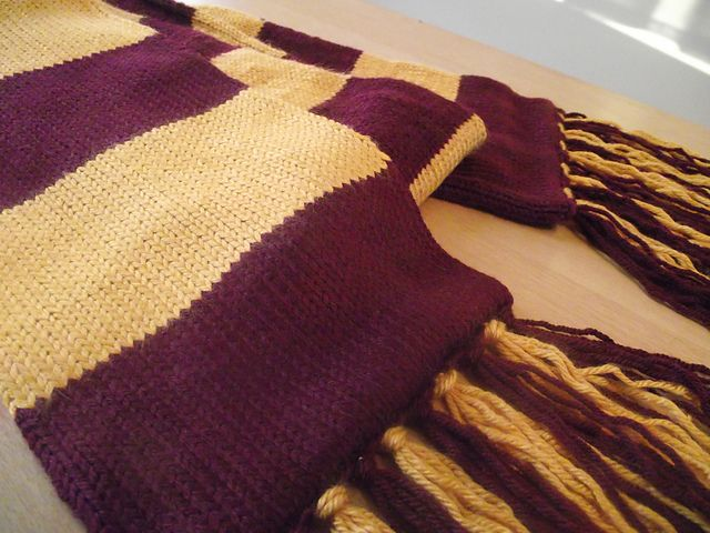 Harry Potter First Year Gryffindor Scarf Knitting Pattern Google