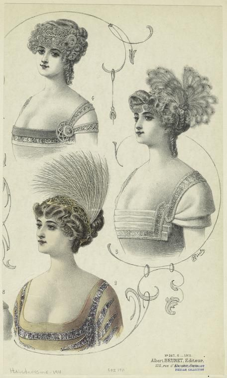 [Hairstyles for women, France, 1910s.] (1911) If these ...