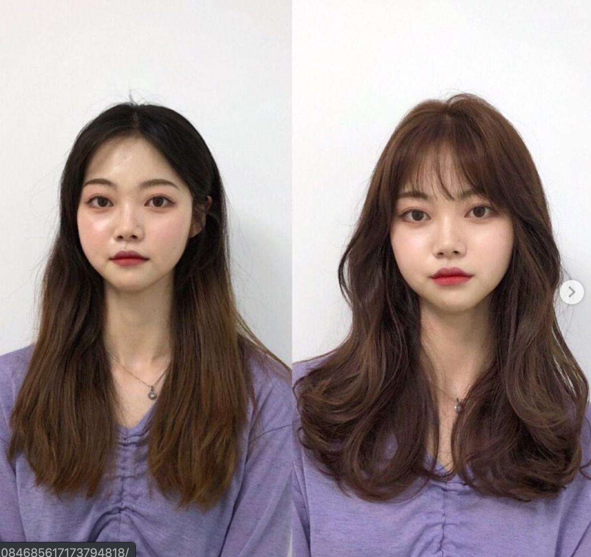 These Are The Hottest Korean Bangs In 2019 Top Beauty Lifestyles Korean Long Hair Korean Short Hair Long Hair Styles