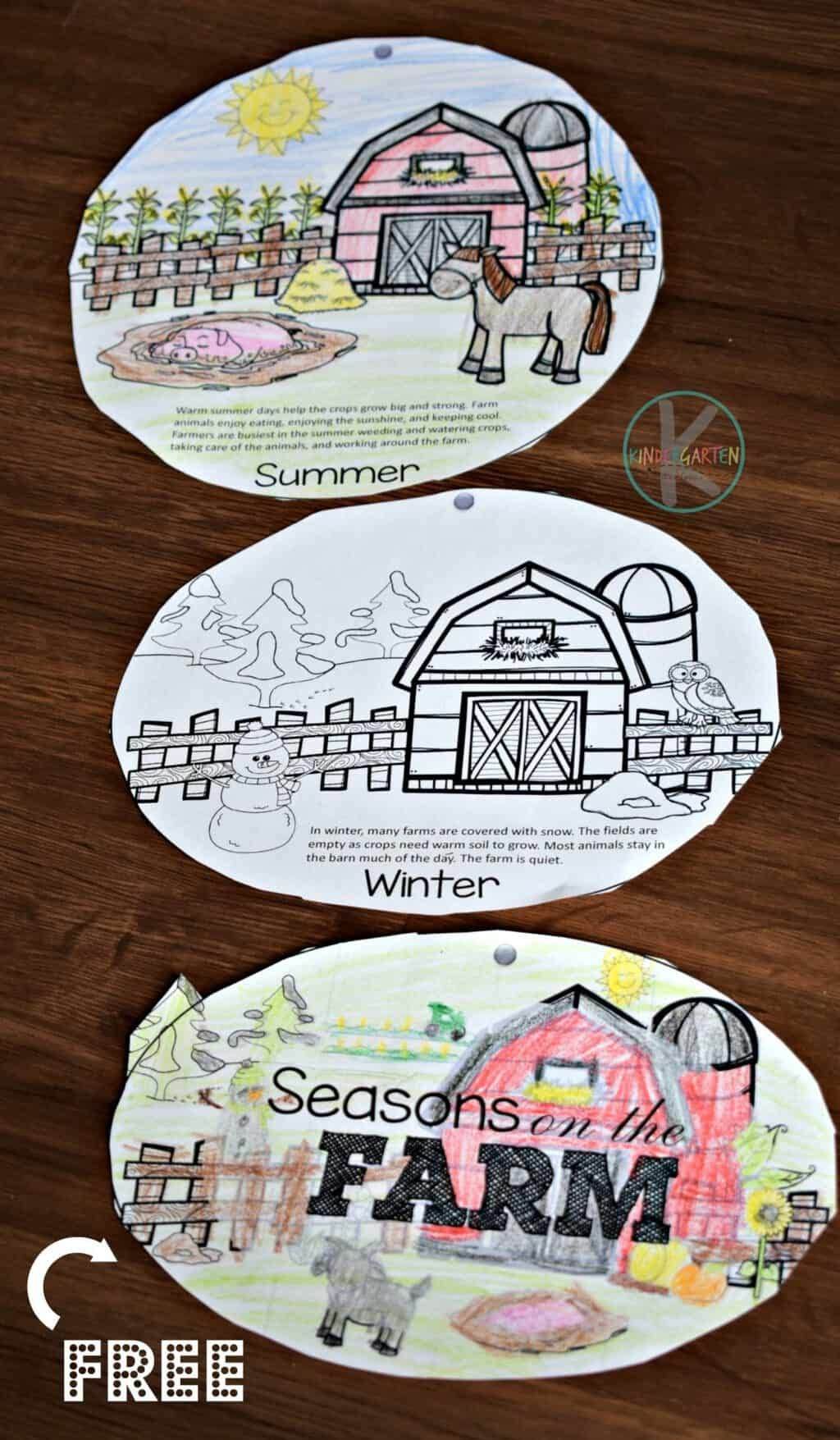 Free Seasons On The Farm Printable