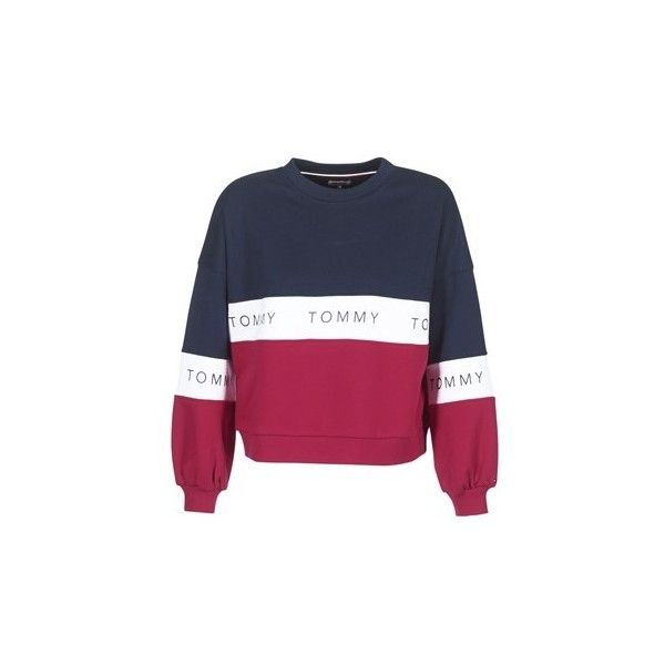 de8628c11 Tommy Jeans TJW COLOR BLOCK CN Sweatshirt ( 120) ❤ liked on Polyvore  featuring tops