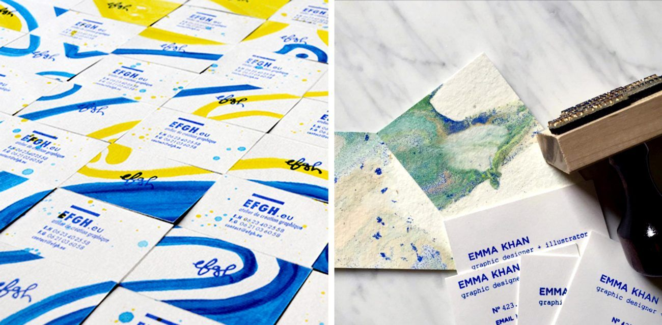 DIY Stamped Business Cards — 6 ways