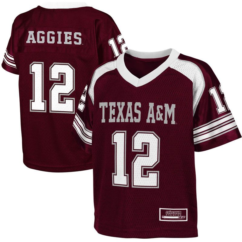online store 71821 a5605 Texas A&M Aggies #12 Toddler End Zone Football Jersey ...