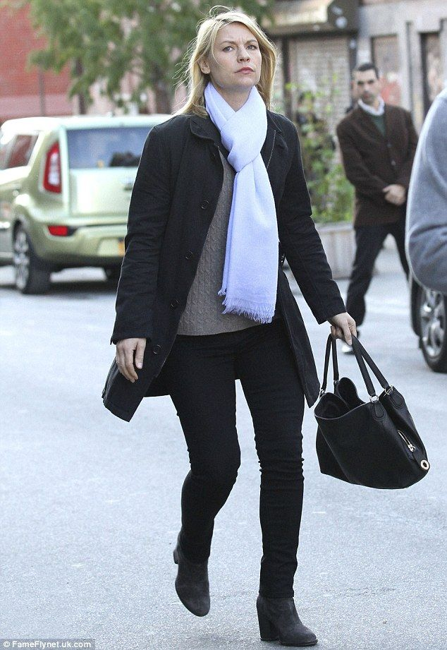 Chic: Adding inches to her petite frame, the acclaimed actress adorned her feet in a pair ...