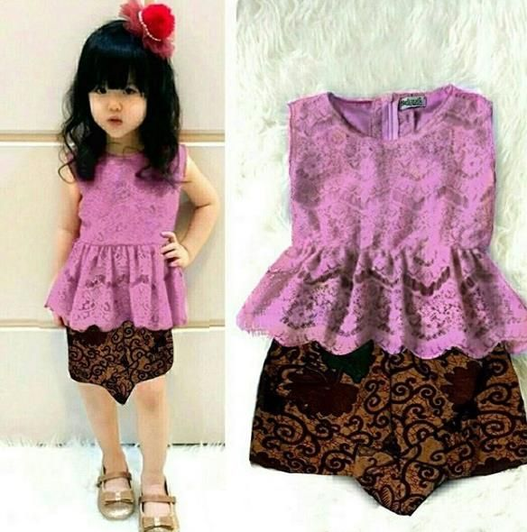 Model Batik Anak Perempuan Muslim Dress