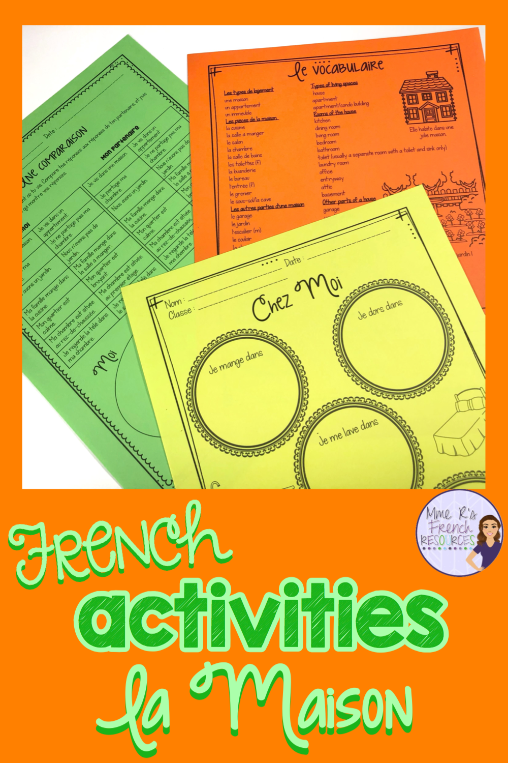 French Worksheets For Vocabulary And Verbs French Speaking Activities French Vocabulary French Teaching Resources [ 1500 x 1000 Pixel ]