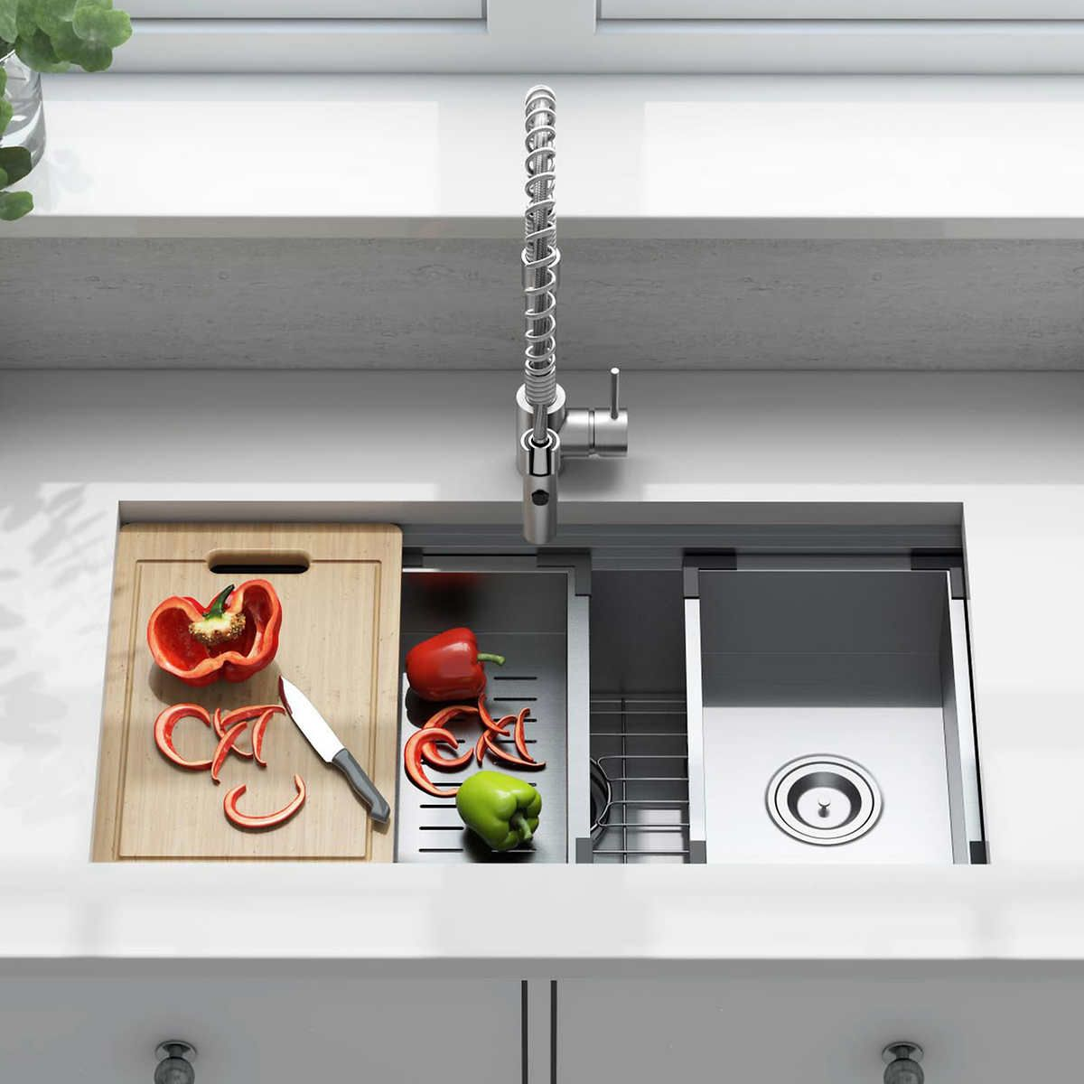 American Standard Chive Workstation Sink With Accessories In 2020 Workstation Sink Cool Kitchens