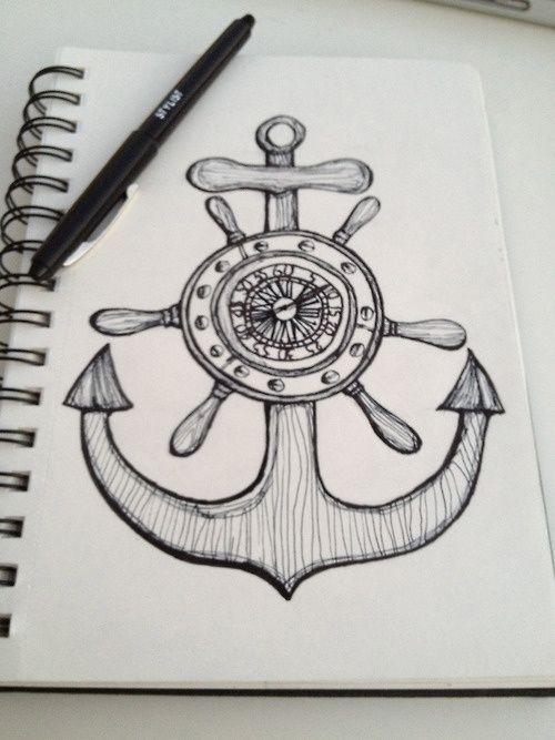 anchor drawing tumblr google search tattoos pinterest