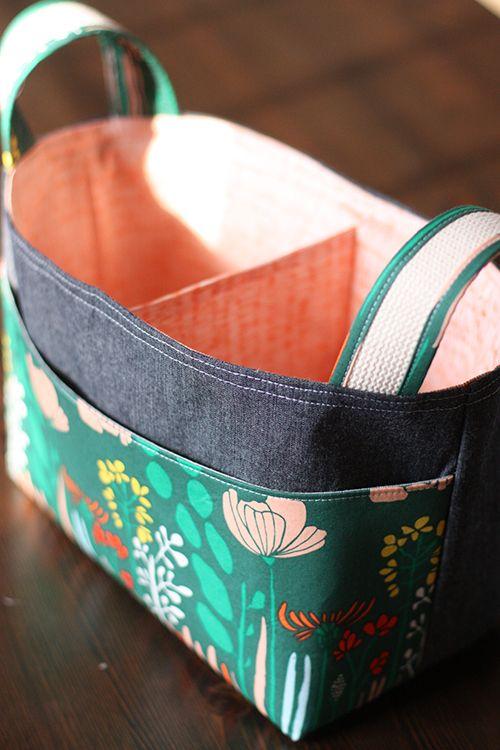 Noodlehead Divided Baskets Uses Pellon 809 Décor Bond