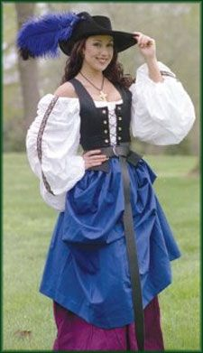 Country Wench Complete Costume: Renaissance Clothing and Medieval Costumes by Elizabethan Outfitters