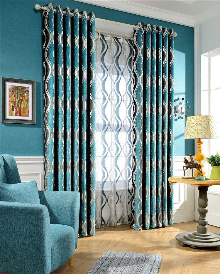 El nuevo alta calidad jacquard chenilla tela de cortina de for Telas cortinas salon diseno