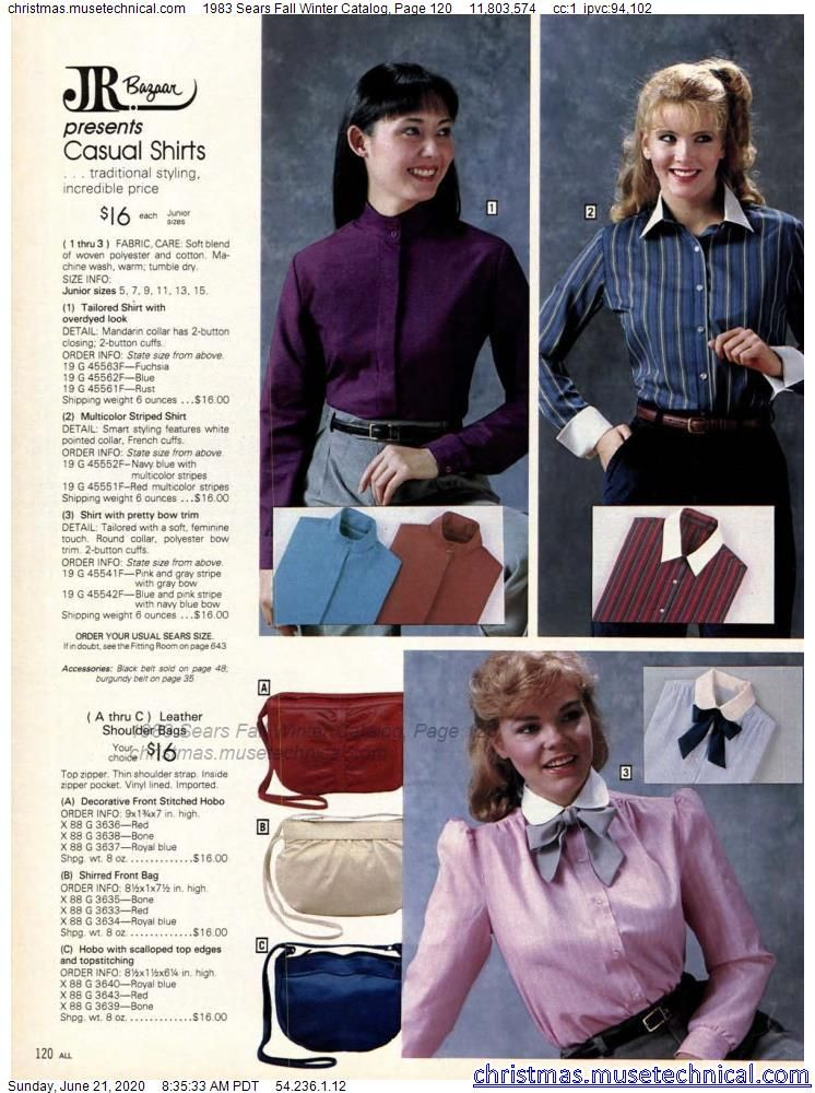 1983 Sears Fall Winter Catalog, Page 120 - Christm