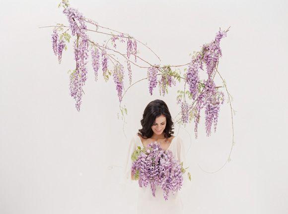 Spring wedding ideas with wisteria