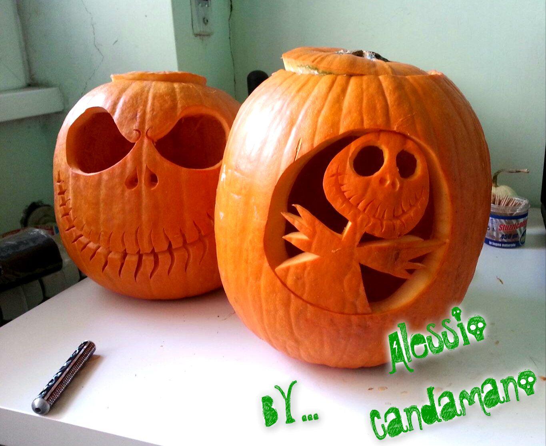 Intagliare Zucca Per Halloween Disegni zucche intagliate per halloween jack skeletron | zucche