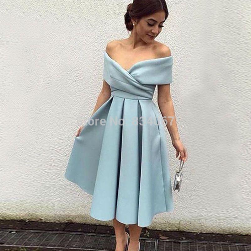 Saudi-arabien Short Prom Kleider 2017 Off Schulter Eine linie ...