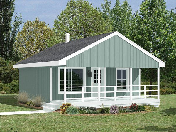 Fachada de vivienda plano de casa clasica dos dormitorios for Casa clasica procrear 1 dormitorio