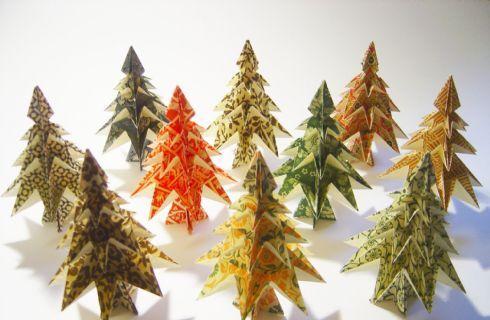 Lavoretti Di Natale Con Istruzioni.Origami Natalizi Alberello Con Schema E Istruzioni