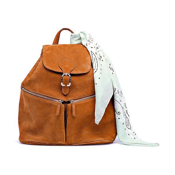 Sac à dos en cuir grainé Longchamp ❤ liked on Polyvore